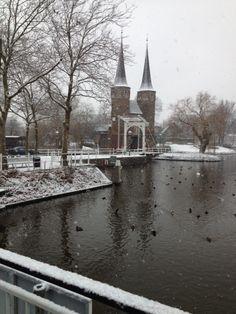 Oostpoort besneeuwd