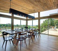 offenes Wohnen im Einklang mit der Natur-Essbereich Wohnpavillon aus Holz