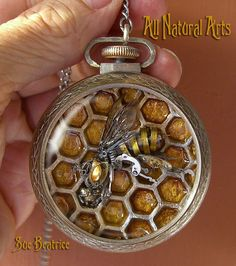 Handcrafted, Artisan Jewelry Agriculture & Forestry Energetic Honey Bee Glass Pendant Jewelry Handmade Bee Keeper Honeycomb Lampwork Glass Clearance Price