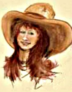 Rosie was a good ole Girl! I love the vintage cowgirl look & like to sketch the look. What a cute red headed cowgirl! Cowgirl Belts, Cowgirl Look, Vintage Cowgirl, Cowboy Hats, Chalk Pencil, Sales Image, Cowgirls, Cowboys, Fine Art America