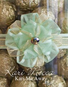 """Combined with 1/2"""" satin edged organza to make a pretty Whimsy Stick medallion."""