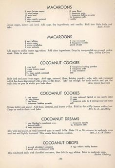 Vintage Cookies Recipes From 1940 (old fashioned sugar cookie recipes) Retro Recipes, Old Recipes, Vintage Recipes, Cookbook Recipes, Recipies, Homemade Cookbook, Cookbook Ideas, 1950s Recipes, Sweet Recipes
