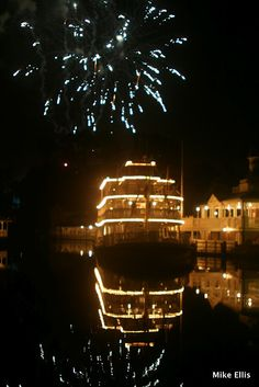 Fireworks over The Rivers of America