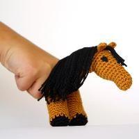 FREE--2 finger Horse Finger Puppet