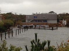 Official quoted as saying Fire Island could effectively become two seperate islands due to Sandy ^DB