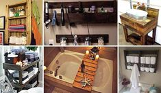 The Best 24 DIY Pallet Projects for Your Bathroom Bathroom might not be your favorite room, but it still is an important one. Pallet Projects Signs, Wood Projects, Pallet Ideas, Wood Ideas, Pallet Wood, Pallet Bathroom, Bathroom Laundry, Bathroom Toilets, Bathroom Signs