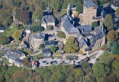 Luftbild Schloss Burg, Solingen