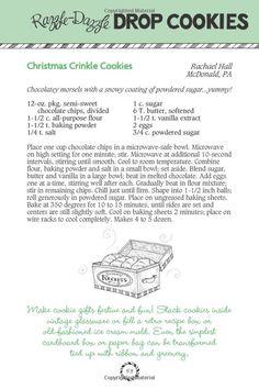 Cookie Press, Cookie Swap, Crinkle Cookies, Drop Cookies, Cozy Christmas, Christmas Cookies, Almond Brittle, Gooseberry Patch, Sugar Cookie Frosting