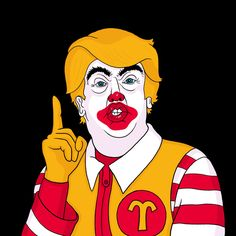 McDonald Trump art print by Chris Piascik