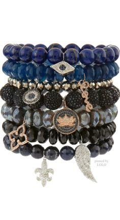 SYDNEY EVAN JEWELS...stacked beaded bracelets