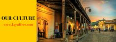 A common day in Antigua Guatemala as the day is done, a cafe in the most magical places you can imagine.