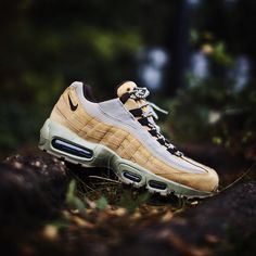 """""""Nike Air Max 95 """"Wheat"""" ($170) Releasing Thursday, November 12th at both locations. First come, first served. #Nike #AirMax95 #Wheat"""""""