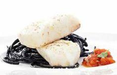Lombos de Pescada com Massa Preta - Consultem esta deliciosa receita e ajudem-me a ganhar um Tablet na Promoção Poupar e Ganhar, só com a Pescanova.