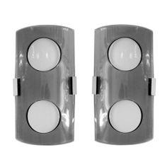 Pair of Italian 60's Glass Wall Lights