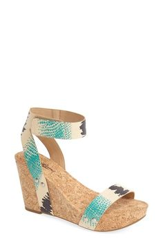 Free shipping and returns on Lucky Brand 'McDowell' Wedge Sandal (Women) at Nordstrom.com. Minimalist straps wrap the earthy cork wedge and platform of a trend-forward sandal in smooth leather.