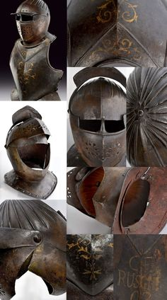 A helmet and a breast plate for a Malta Knight. provenance: North Italy dating: first quarter of the 17th Century