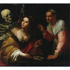 Circle of Giovanni Martinelli -  VANITAS, ALLEGORY OF THE AGES -  oil on canvas