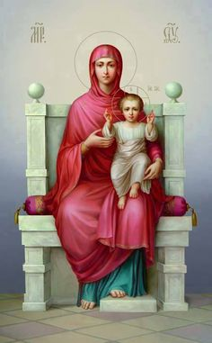 Lord, Thy blessing please. May the Virgin Mary with her Loving Offspring bless us. Religious Images, Religious Icons, Religious Art, Blessed Mother Mary, Blessed Virgin Mary, Catholic Art, Catholic Saints, Hail Holy Queen, Images Of Mary
