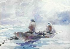 Andrew Wyeth - Fishermen in Dory - 1936