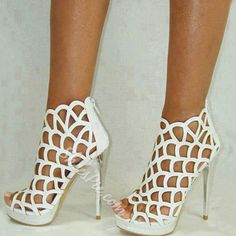 Fashionable Cut-Outs Peep-toe Stiletto Heels- Shoespie.com