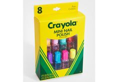 Crayola Is Releasing a Nail Polish collection - love it! via. Birchbox
