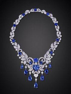 Graff Sapphire and Diamond Necklace