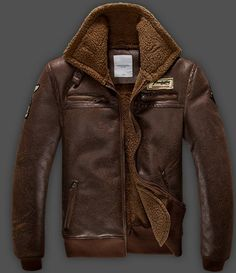Bomber Jacket Leather Bomber Jacket Men Bomber by Wowcosplay, $89.00