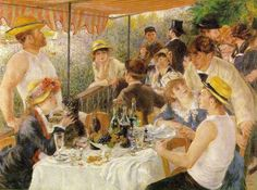 Luncheon of the Boating Party, by Renoir.