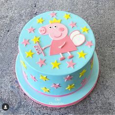 3rd Birthday Cakes For Girls, Peppa Pig Birthday Cake, Cake Decorating For Kids, Birthday Cake Decorating, Tortas Peppa Pig, Cake Designs For Kids, Aniversario Peppa Pig, Cake Shapes, Girl Cakes