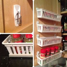Awesome Luxury Kitchen Storage Ideas To Save Your Space. diy kitchen decor Luxury Kitchen Storage Ideas To Save Your Space Kitchen Storage Solutions, Diy Kitchen Storage, Kitchen Hacks, Home Storage Ideas, Diy Kitchen Ideas, Apartment Kitchen Storage Ideas, Small Kitchen Diy, Pantry Storage Cabinet, Fridge Storage