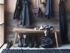 Hallway Inspiration  IKEA SKOGSTA Kollektion