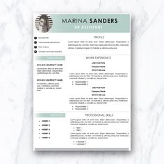 Creative Resume Template And Cover Letter By Paperavenueco On Etsy