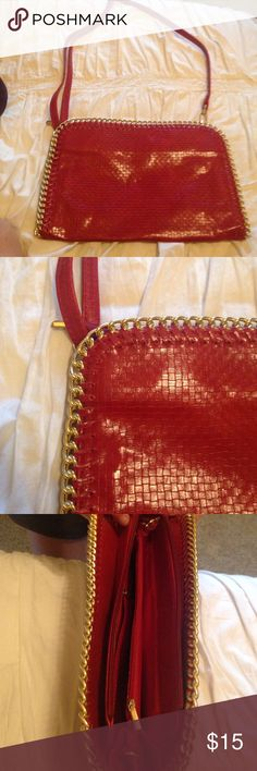 Red Oversized Clutch August 2017
