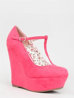 T-Strap Wedge Heels #zooshoowin - Just bought this