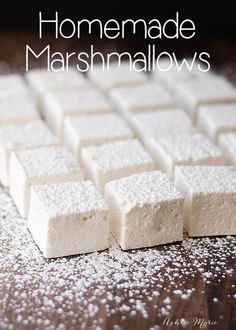 Homemade Marshmallows homemade marshmallows are easy to make and taste amazing. This recipe is super easy to make Homemade Marshmallows homemade marshmallows are easy to make and taste amazing. This recipe is super easy to make Recipes With Marshmallows, Homemade Marshmallows, Homemade Candies, Marshmallow Desserts, How To Make Marshmallows, Marshmallow Recipe Without Gelatin, Gelatin Free Marshmallows, Desert Recipes, Sweets