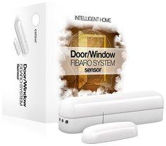 Z-Wave Fibaro Universal Door & Window Sensor - Brown Z Wave Home Automation, Modern Blinds, Shops, Home Tech, Digital Thermometer, Roller Blinds, Light Sensor, Cool Gadgets, Windows And Doors