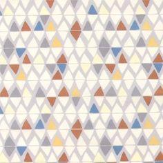 Baumwolle, Grau, mehrfarbige abstrakte D