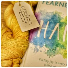 A new book ( @fearnecotton happy ) and some yummy yarn ( @coolreeyarn ...a gift from a knitty friend... thanks sue!  ) is what the simple things in life are about. #simplethingsinlife #newbook #yummyyarn #yarnporn #positivevibes