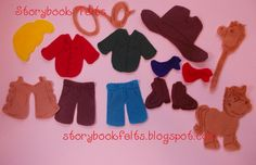Felt Doll My LIittle Cowboy Felt Doll Dress Up by StorybookFelts