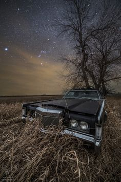 """Mark III - """"Mark III""""  Old Lincoln Continental Mark III rusts under the stars. Taken last night southeast of Huron, South Dakota.  From the Stardust and Rust series by       <a href=""""http://www.facebook.com/HomeGroenPhotography"""">Aaron Groen</a> .   <a href=""""http://homegroenphotography.com/"""">HomeGroenPhotography.com</a>"""
