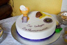 Torte Erstkommunion  Thema Brot des Lebens Cake, Desserts, First Communion, Brot, Pies, Tailgate Desserts, Deserts, Kuchen, Postres