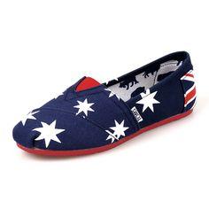 Flag Rubber Sole Blue Womens Artist Toms Shoes