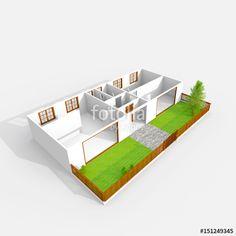 Interior Rendering, Outdoor Furniture Sets, Outdoor Decor, Home Design Plans, Empty, 3 D, House Design, Stock Photos, Home Decor
