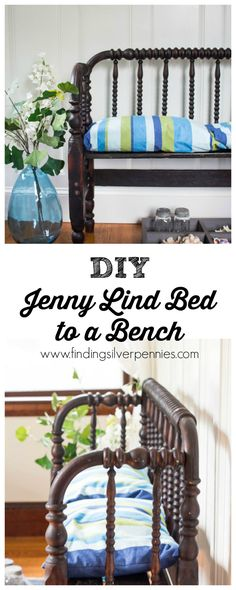 Baby cribs repurpose jenny lind 63 ideas for 2019 - Crib Repurpose - Bench Furniture, Repurposed Furniture, Furniture Makeover, Painted Furniture, Furniture Design, Handmade Furniture, Furniture Ideas, Bedroom Furniture, Baby Bed Bench