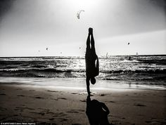 By the sea: Praia do Guincho Beach in Portugal. Kapstand hopes to take his balancing act ...