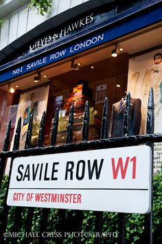 No.1 Savile Row for Hilly's London