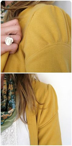 XL men's sweater > cute blazer by dee*construction, sleeve detail, via Flickr