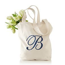 simple cotton tote | Mark and Graham $29 monogrammed