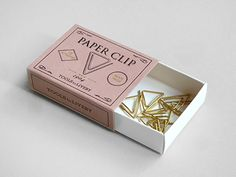 I love these brass paperclips
