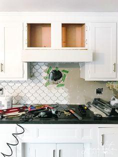 Wood Hood Vent, Kitchen Vent Hood, Diy Kitchen Projects, House Projects, Wood Projects, Kitchen Redo, Kitchen Remodel, Kitchen Storage, Kitchen Design